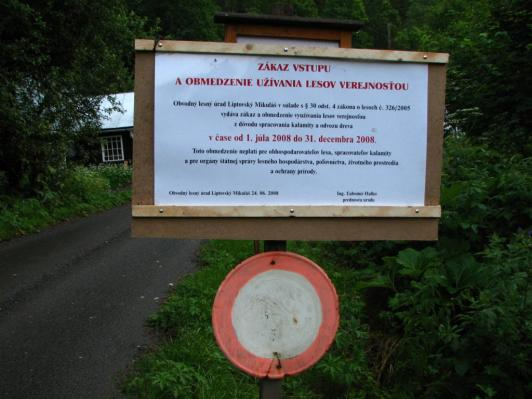 Zákaz vstupu - Nízke Tatry, júl 2008